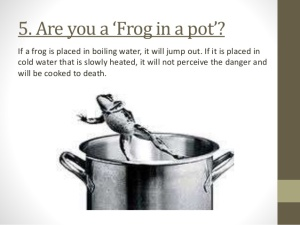 frogs boiling